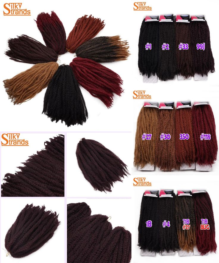 """[Visit to Buy] Silky Strands Afro Kinky Marley Braiding Hair 18"""" 100g Bulk Soft Curly Crochet Synthetic Ombre Braind Hair Low Temperature Fiber #Advertisement"""