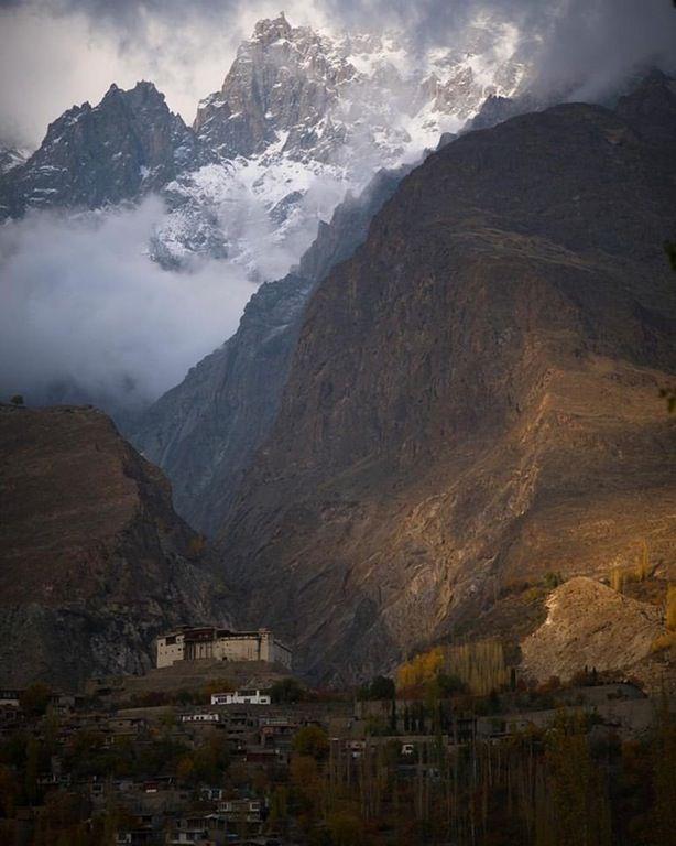 Baltit Fort With Ultar Peak Rising Dramatically In The Background | Baltit Fort, Hunza, Gilgit Baltistan | By Haseeb Amjad [768x960] : ExplorePakistan