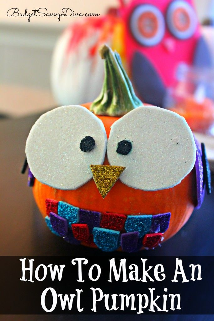 How cute is this :) Check out the tutorial on How to Make an Owl Pumpkin