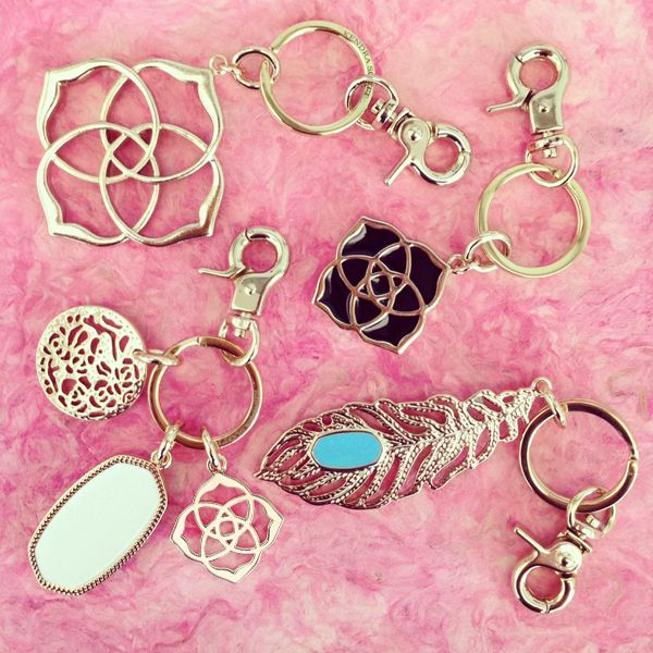 Kendra Scott Key Chains - accessorize your keys! Thank them for being a 'key' to your celebration.