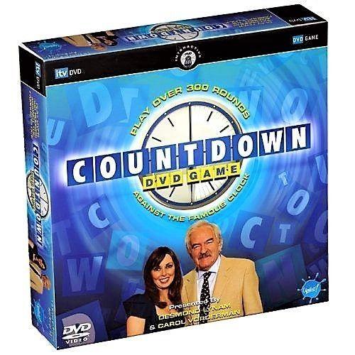 COUNTDOWN ITV DVD BOARD GAME - DESMOND LYNAM & CAROL VORDERMAN - NEW & SEALED