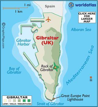 Map of Gibraltar - World Atlas