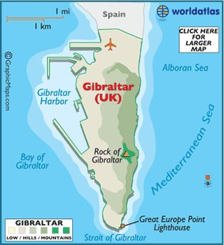 Gibraltar Spain Map | map of England