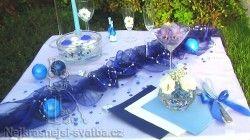 Výzdoba svatební tabule pro 40 hostů, bordó, Svatební dekorace, Dekorace na svatební stůl -