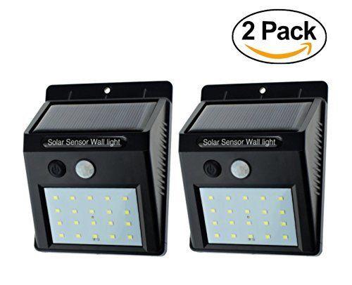 £10.00 (60% Off) on LootHoot.com - [Flybuddy] 20 LED Bright Solar Sensor Light, Outdoor Motion Light, Security Sensor Light Pack of 2