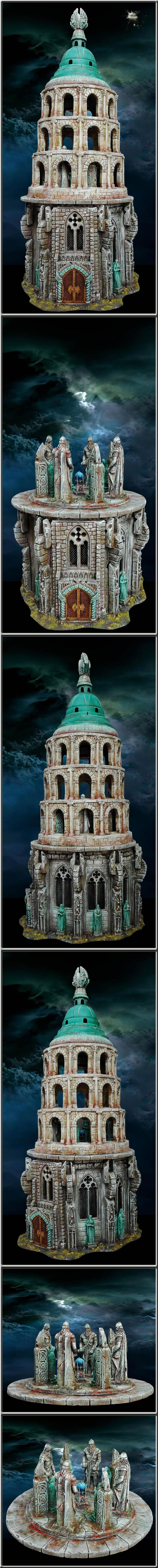 Lord Of The Rings, Minas Tirith, Sculpting, Temple, Terrain