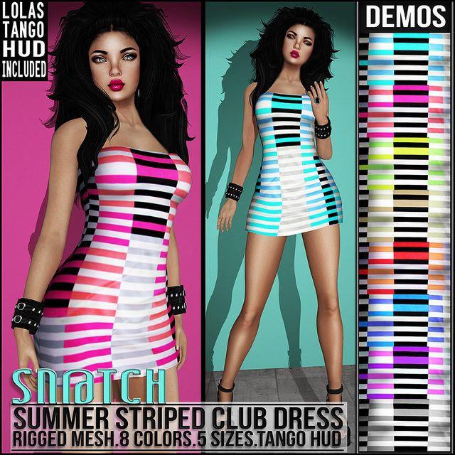 Sn@tch Summer Striped Club Dress Vendor Ad LG | Flickr - Photo Sharing!