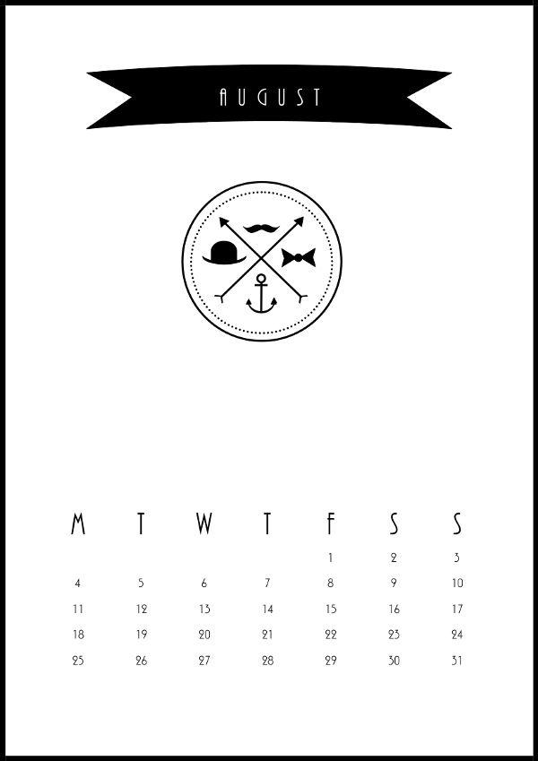 August 2014 Calendar, design by me!  http:2xilo@blogspot.fi
