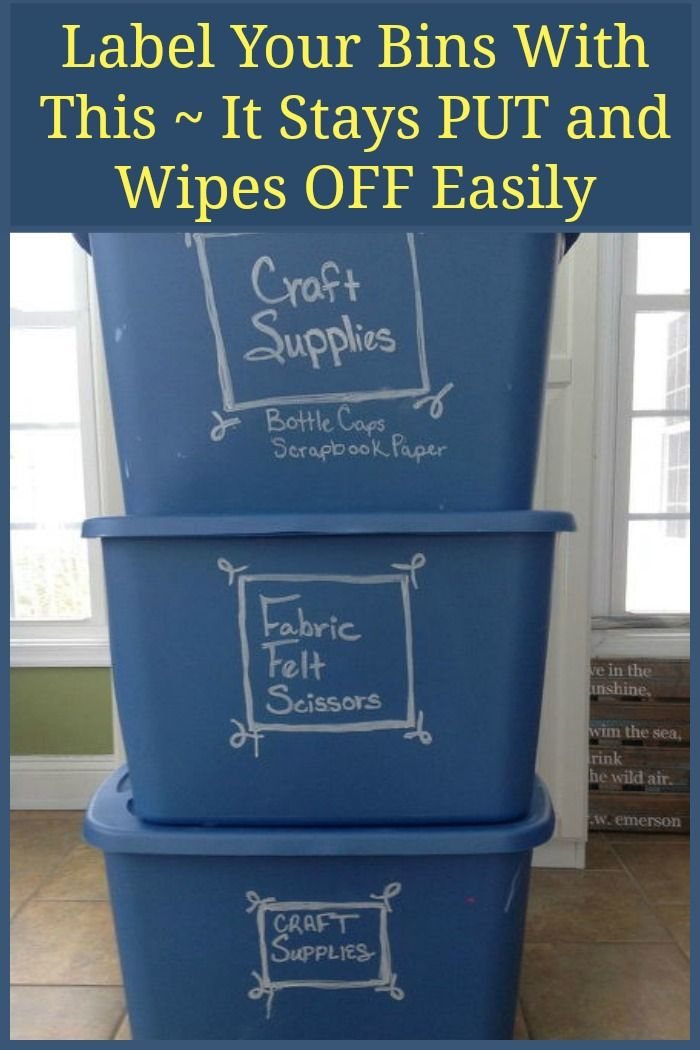 This is such a smart idea ~ you could do this for children's clothing as well ~ write down the sizes and contents and as they grow or the clothes are no longer needed you can wipe off the bin and update as needed!