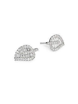 64c3765ab Anita Ko 18K Gold & Diamond Medium Leaf Studs | Jewelry and ...