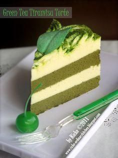 Just My Ordinary Kitchen...: LBT#7: COTTON CAKE ~ GREEN TEA TIRAMISU TORTE