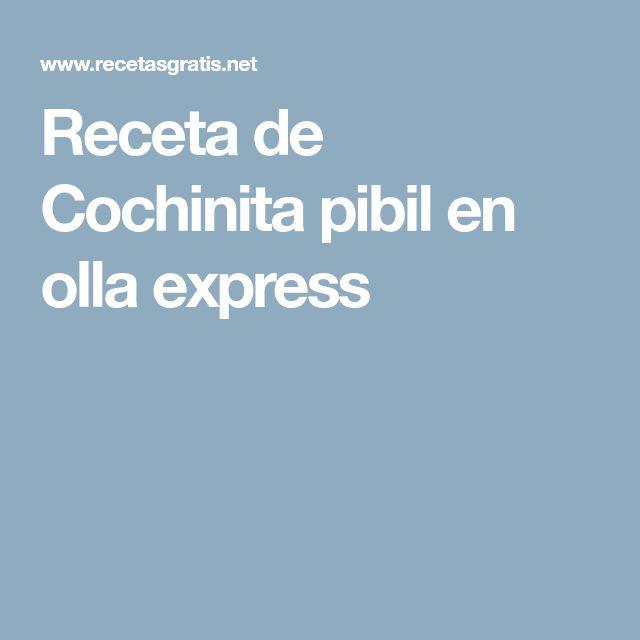 Receta de Cochinita pibil en olla express