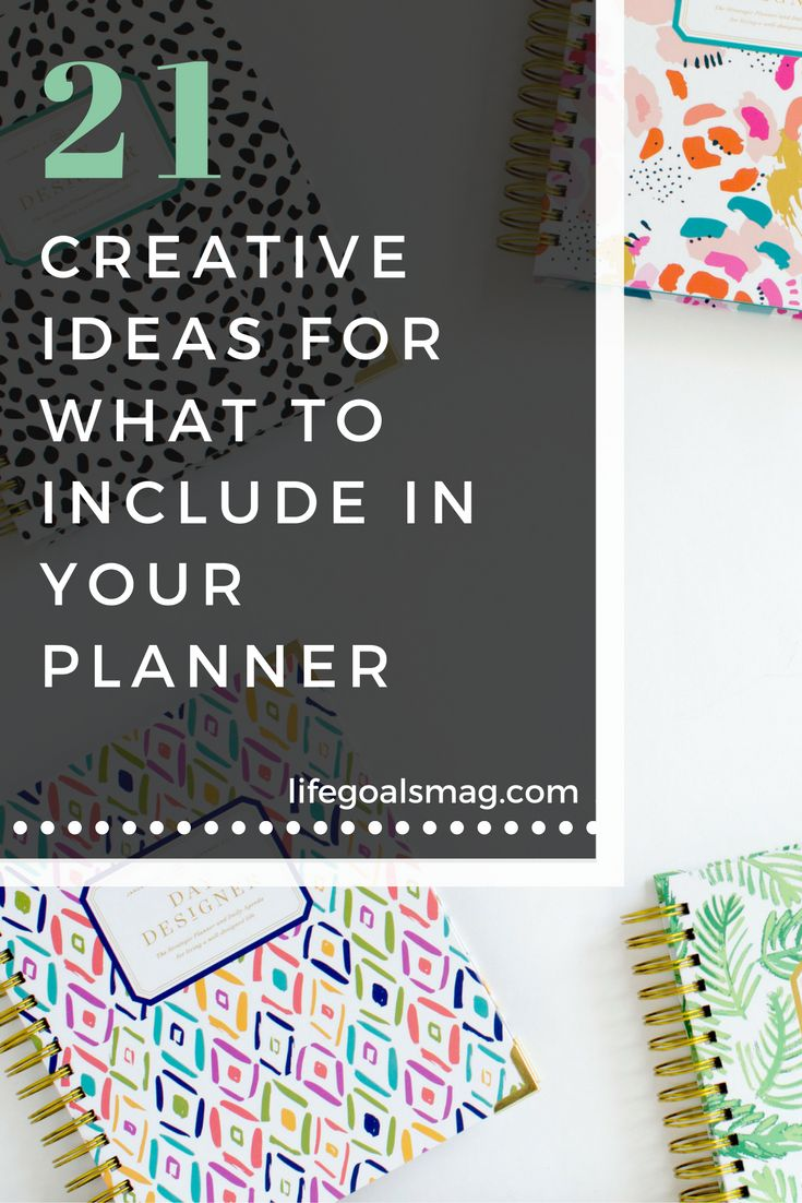 Fun ideas for what to write in your 2017 planner.