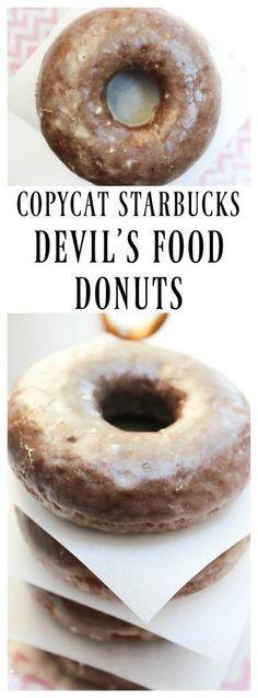 Copycat Starbucks Devil's Food Donuts