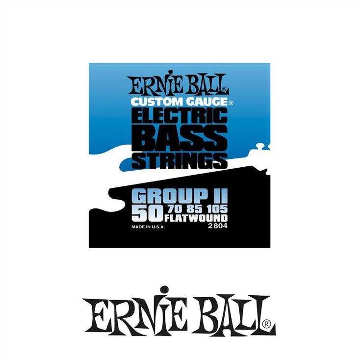 Ernie Ball 2804 Flatwound Group II Electric Bass Strings