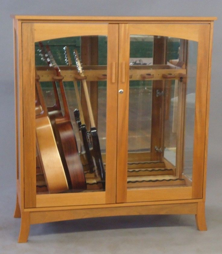 Custom Made Asian Modern Guitar Cabinet