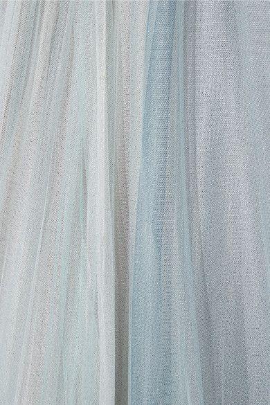 Тон-синий тюль потайная застежка-крючок и застежка-молния на спине 100% полиэстер; trim1: 100% шелк; trim2: 100% перо (курица); подкладка: 92% шелк, 8% спандекс сухая чистка