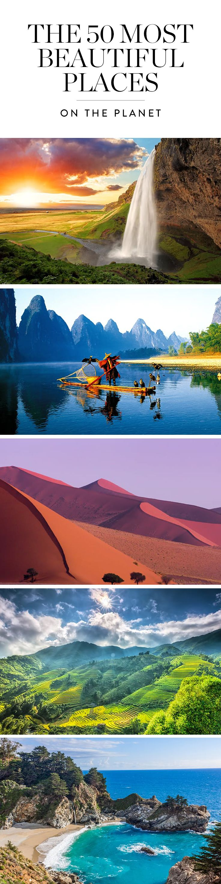 The world has so many jaw-dropping places. We decided we needed to take a closer look at them. Here are 50 of the most insanely beautiful places on the planet. Prepare for an onslaught of wanderlust.