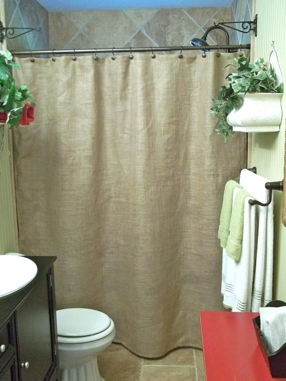 Burlap Shower Curtain Ideas Rustic Country French Chic 45 With