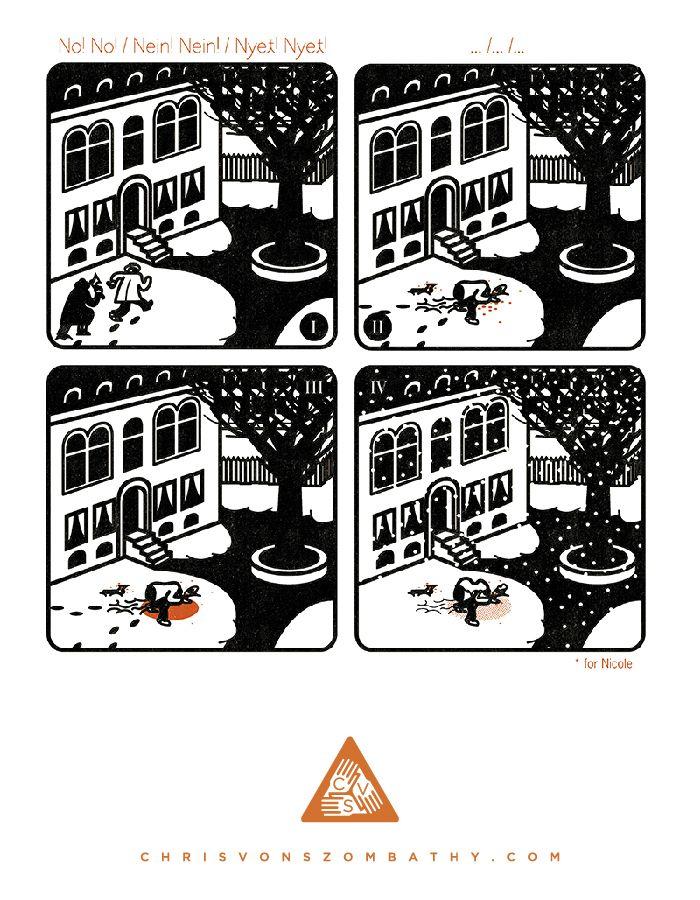 """""""Murder"""" an illustration by artist/designer Chris von Szombathy."""