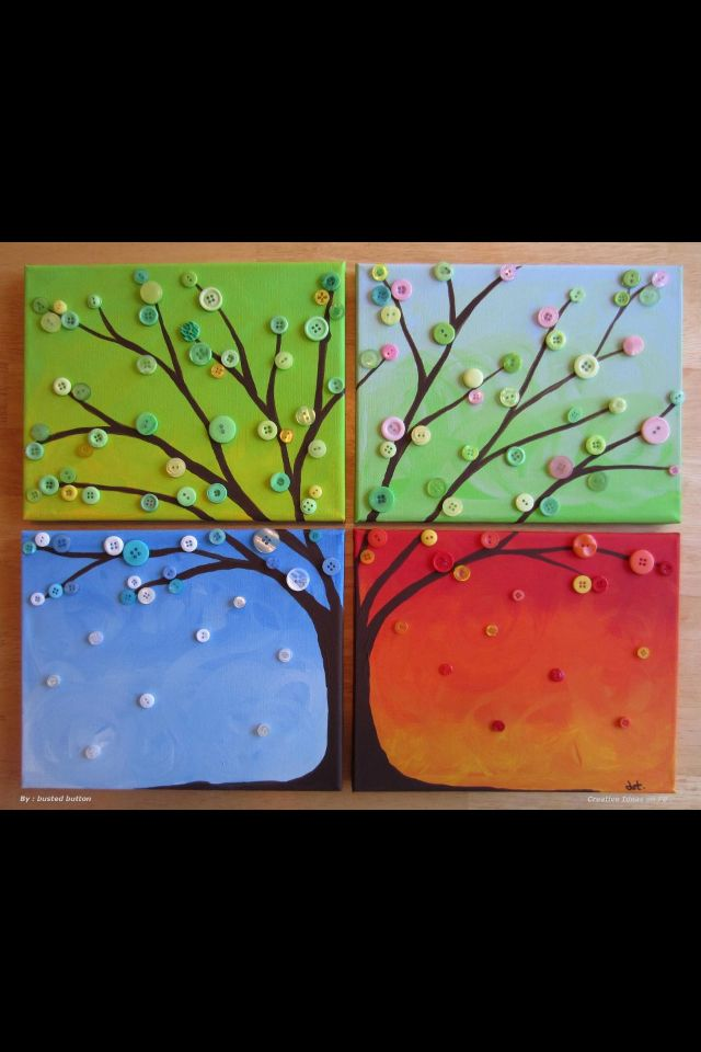 Four Seasons button art. I would group the buttons to fit the seasons better