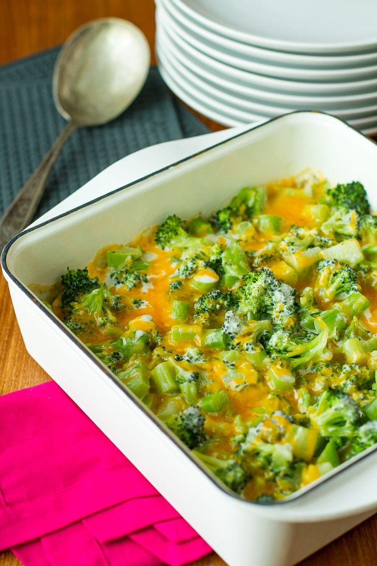 Broccoli and Cheese -- this creamy broccoli and cheese casserole will have your kids ASKING you to make broccoli. Total mom win!!! | via @unsophisticook on unsophisticook.com