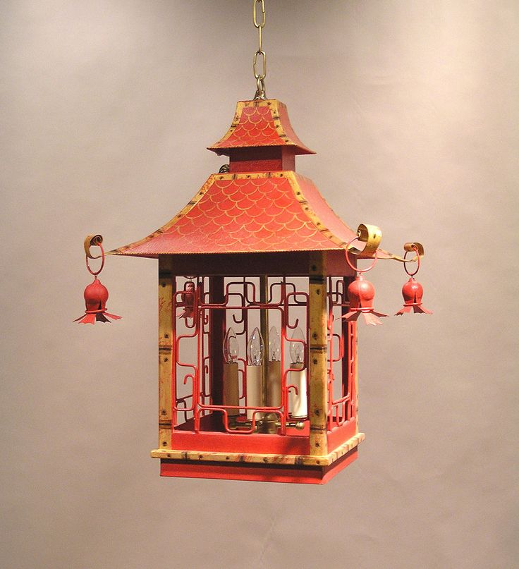 This Lantern Inspired House Design Lights Up A California: John Rosselli & Associates Faux Bamboo Square Tole Pagoda