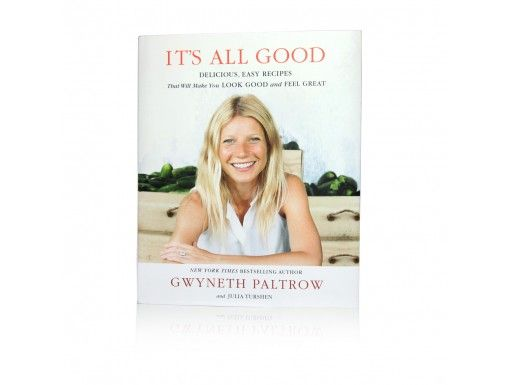 """Exclusive """"It's All Good"""" cookbook signed and personalized by Gwyneth Paltrow."""