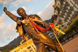Freddie Mercury in Montreux, Switzerland