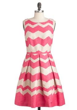 At Every Pattern Dress in Zigzag: Pattern Dress, Summer Dresses, Chevron Dresses, Dreams Closet, Plays Dresses, Parties Dresses, Chevrondress, Patterns Dresses, Pink Chevron