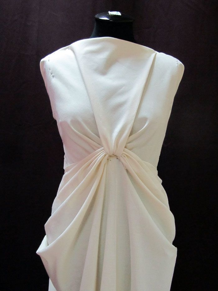 Draping On The Stand Draped Dress Design Moulage