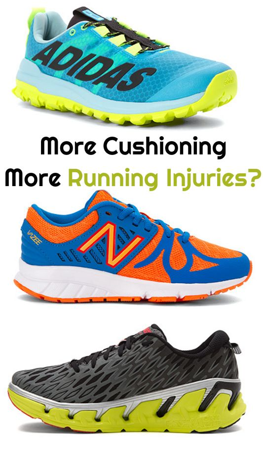 Too much shoe cushioning may inflict harm on your running form