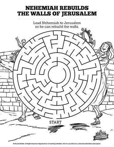 Book of Nehemiah Bible Mazes: Can your kids lead Nehemiah