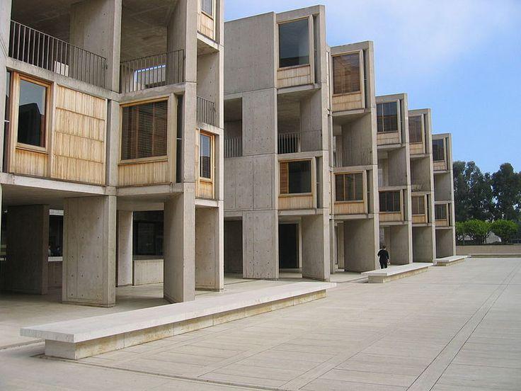 salk, kahn, facade, volumes, voids, wood, concrete