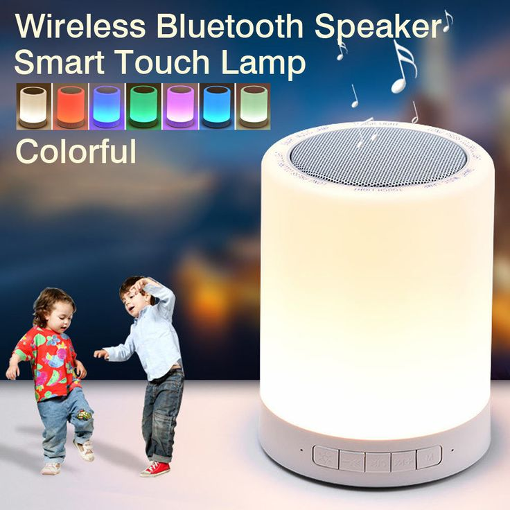 Portable LED Bluetooth Speaker Wireless Audio TF Card USB Night Light Intelligent Music FM Stereo Sound Table Lamp For Phone #Affiliate