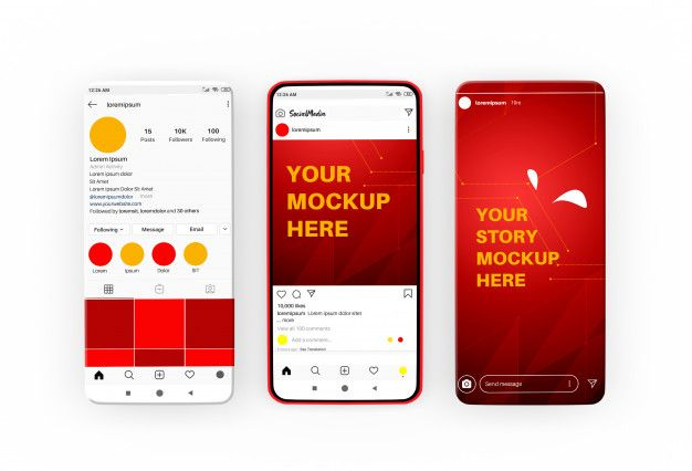 Social Media Stories And Post Template On Smartphone Mockup Post Templates Social Media Mockup Instagram Post Template