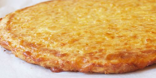 No carb pizza crust made from coconut flour...amazing taste! Been reading a lot about coconut flour lately