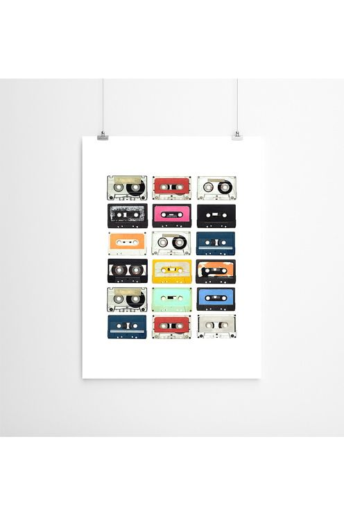 Ellos Home Poster Mixed tape 50x70 cm