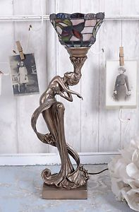Lampara-De-Mesa-Art-Nouveau-Estilo-Moderno-Iluminacion-Shabby-Chic