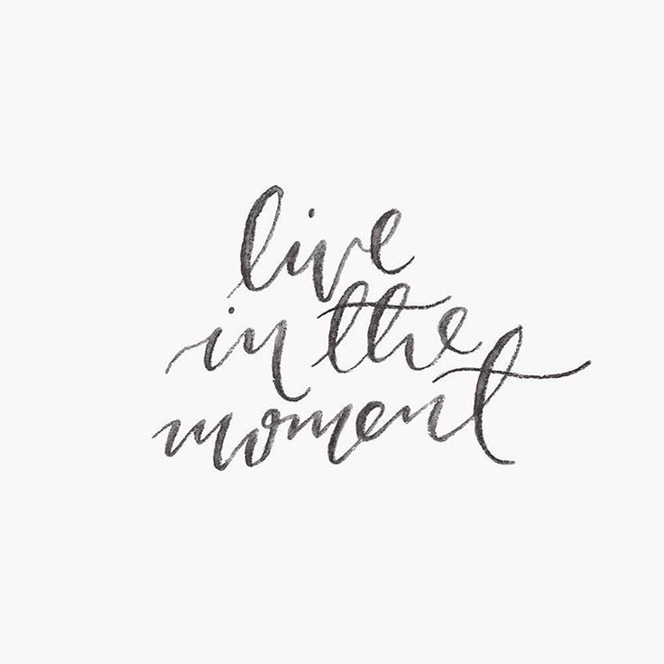 Live in the moment. #handlettering #brushlettering #quote