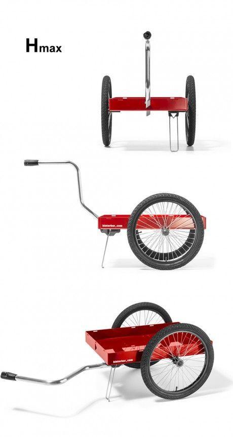 Fahrradanhänger, Handwagen und Sackkarre in einmen ... und mit Weber-Kupplung – cool: