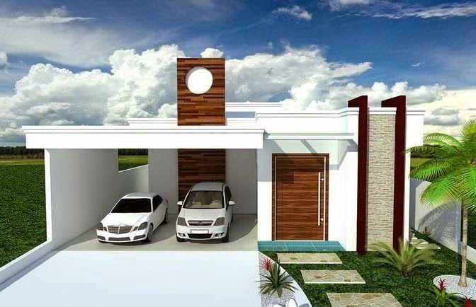 Fachada de casas térreas e modernas