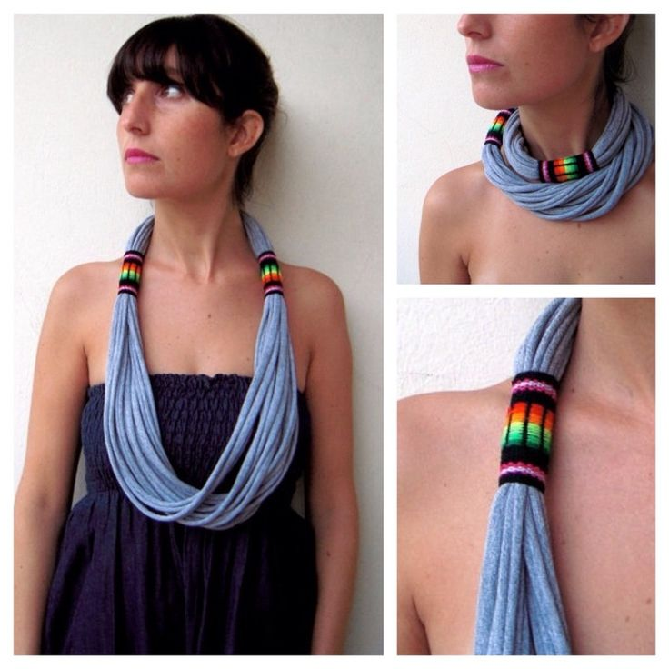 This is a beautiful necklace / scarf that gives color and life to your outfits, the strip of peruvian handmade fabric produces a tribal effect. Very soft, light and it can be turned twice around your neck.