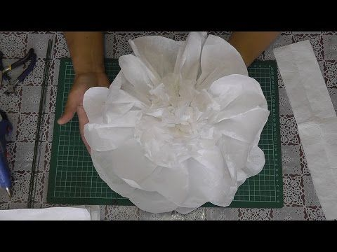 Большие цветы из бумаги. Мастер-класс - YouTube