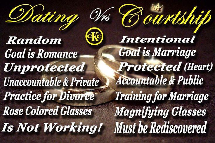 dating and courting done right