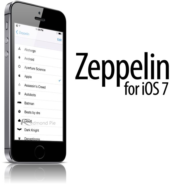 Change iOS 7 Carrier Logo On iPhone With Zeppelin Beta