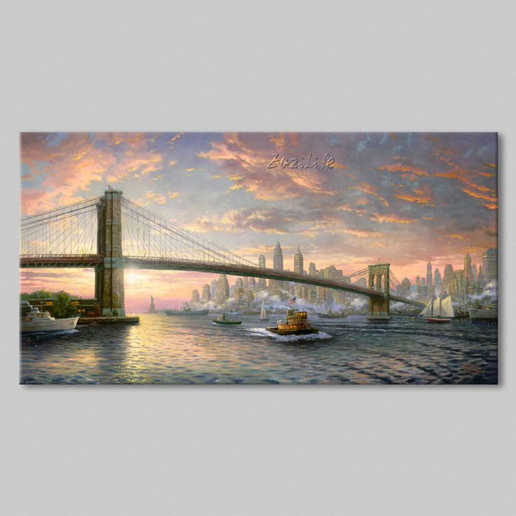 Find More Painting & Calligraphy Information about Framed Thomas Kinkade Oil Paintings The Spirit of New York Art Decor Painting Print Giclee Art Print On Canvas,High Quality canvas print painting,China canvas wall art paintings Suppliers, Cheap canvas oil painting from Eazilife Oil Painting on Aliexpress.com