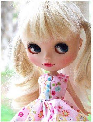 A custom made Blythe doll.