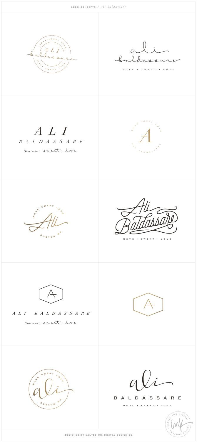 Brand Launch: Ali Baldassare by Salted Ink - Fitness Brand Design - http://www.saltedink.com - Brand Stylist