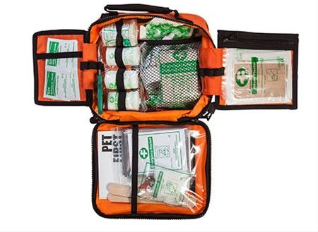 Have the ability and knowledge to provide emergency help for your pet. Comes with First Aid instructions and most everything you'd need in a first-response situation. Kit organizes supplies into clear